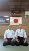 Suganuma Senseï et Steve Piazza Aikido Fukuoka 2015