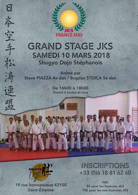 Stage Karaté Jks France Sud