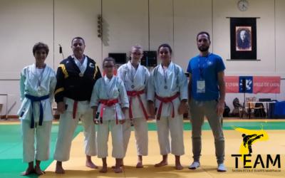 5 médailles au championnat départemental kata du Rhône.