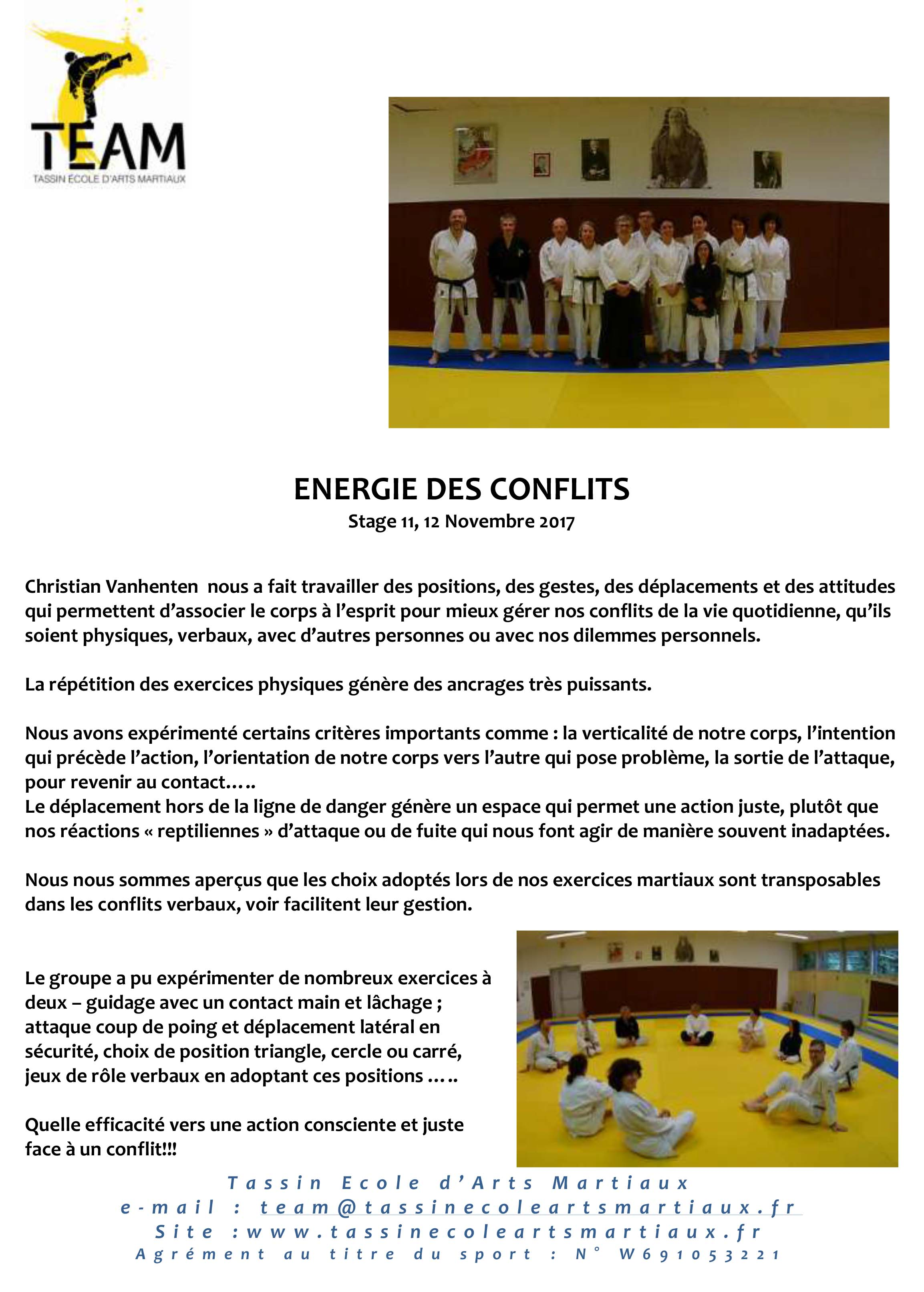 Energie des conflits