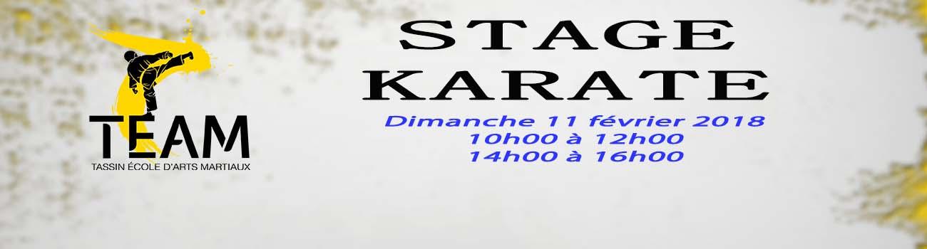Stage Karaté 11 février