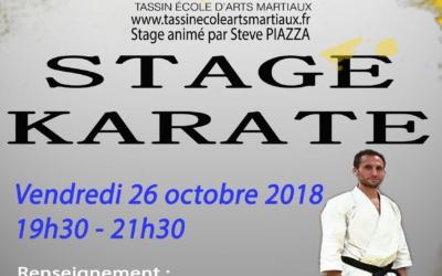 Stage Karaté le 26 octobre 2018