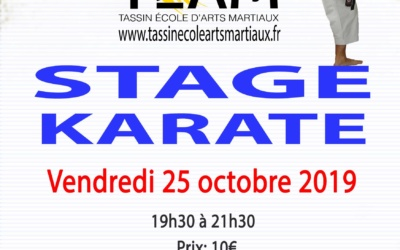 Stage Karaté octobre 2019